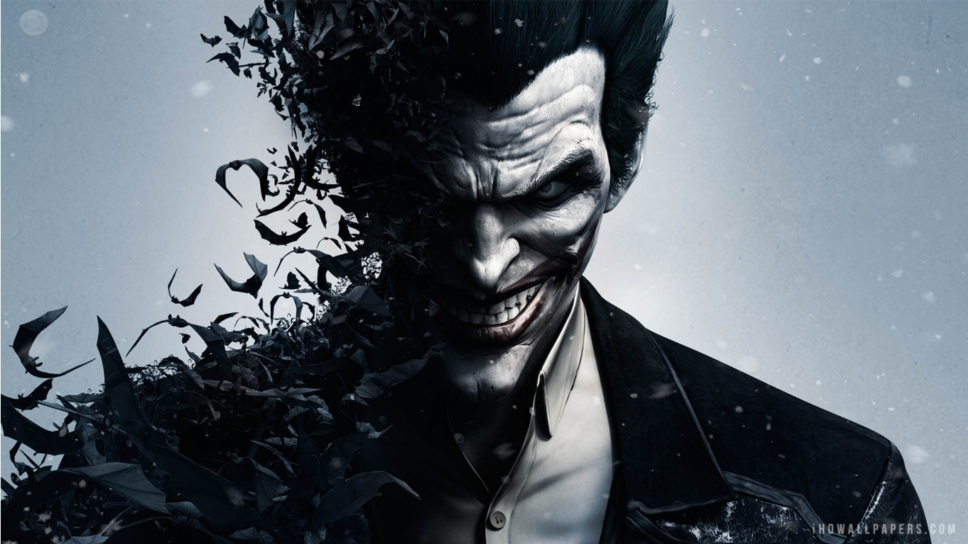 Joker in Batman Arkham Origins HD Wallpaper   iHD Wallpapers 1366x768