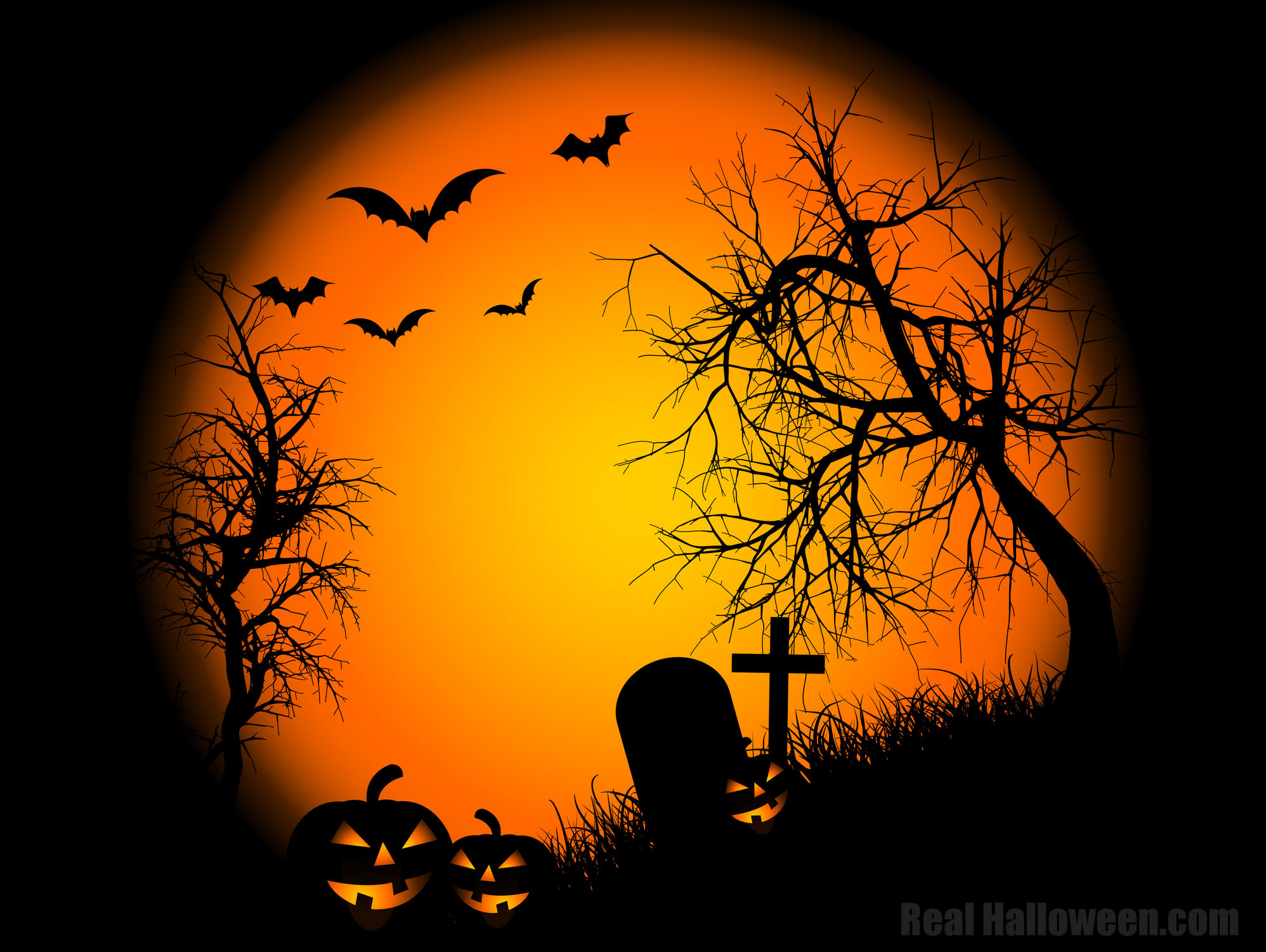 halloween wall paper Flash and Video 1996x1501