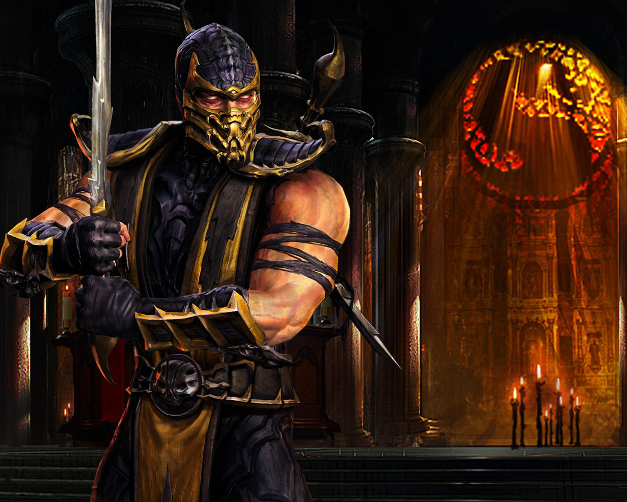 Mortal kombat scorpion wallpapers wallpapersafari - Mortal kombat scorpion wallpaper ...