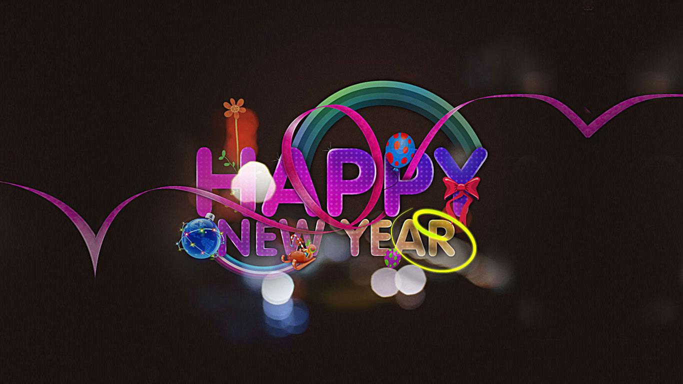 Happy New Year 2016 Wallpaper HD 1366x768