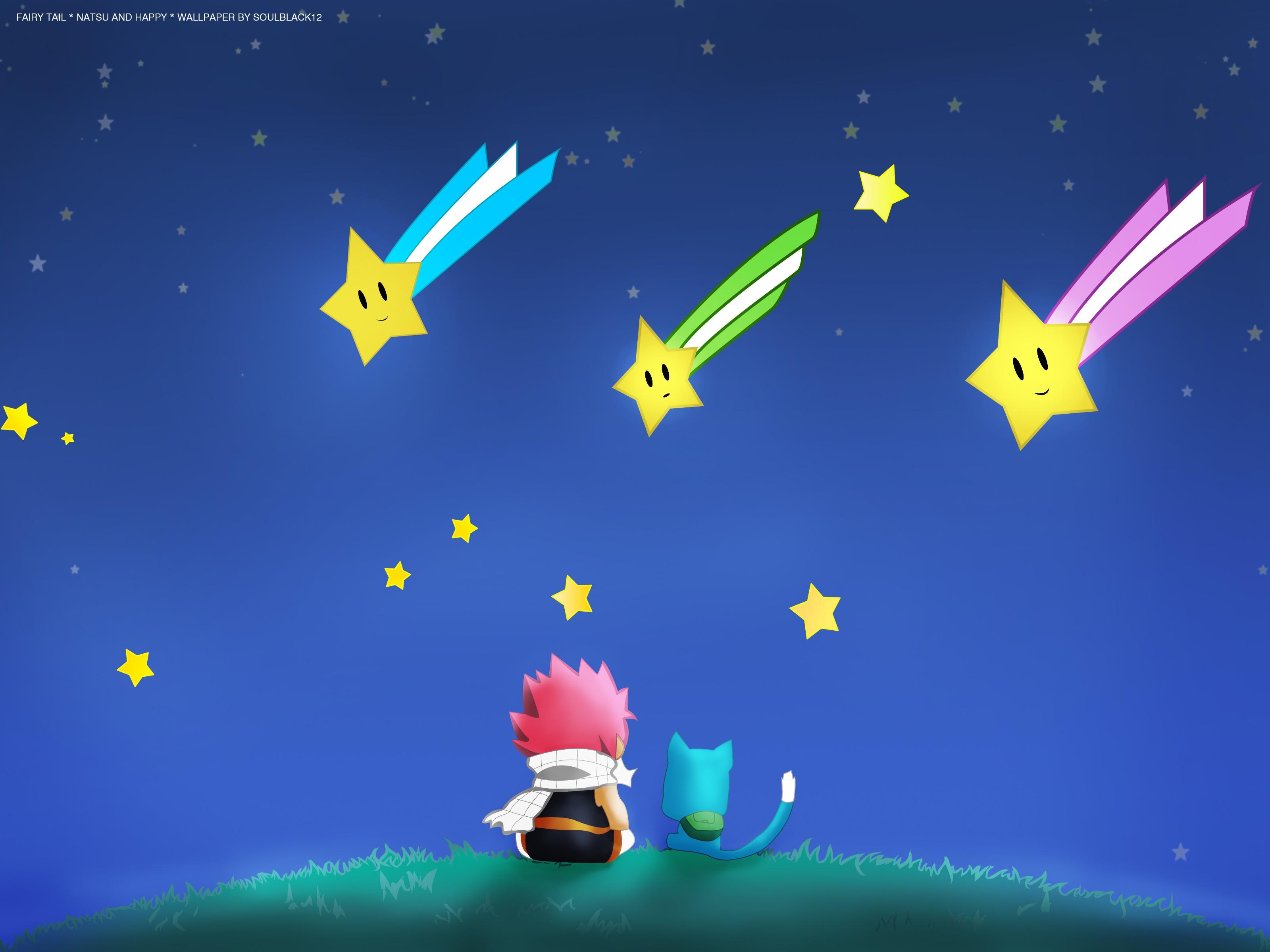 Stars happy fairy tail dragneel natsu anime anime boys 3200x2400