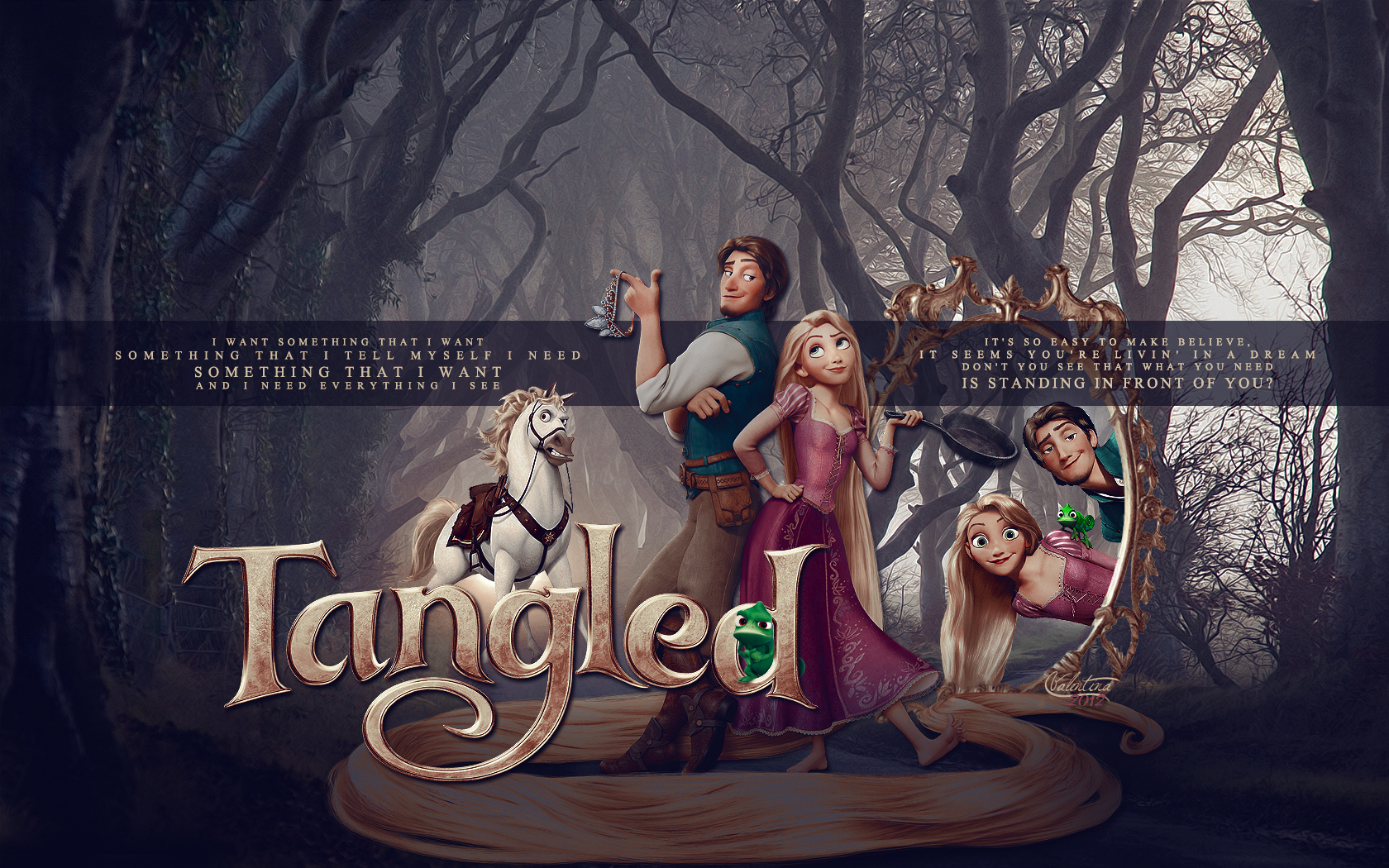 TANGLED wallpaper   Princess Rapunzel from Tangled Wallpaper 1680x1050