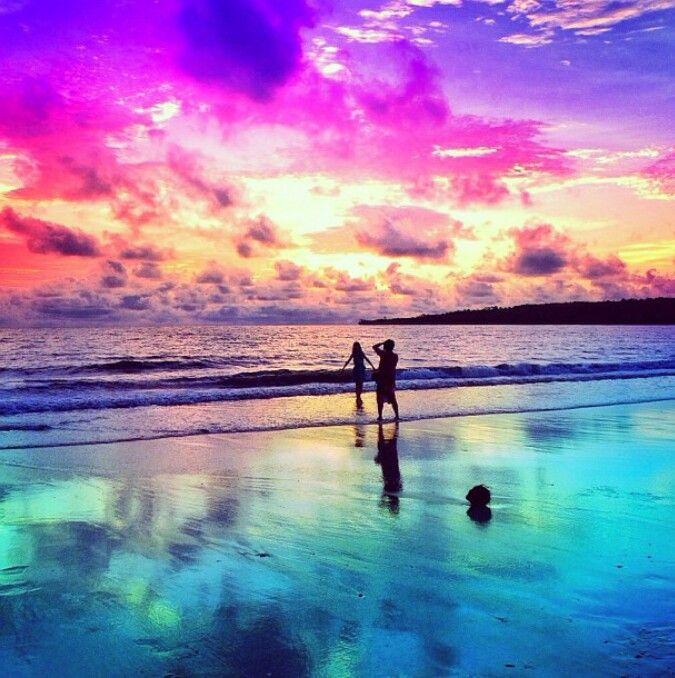 Pin Pink Beach Sunset Wallpaper 675x678