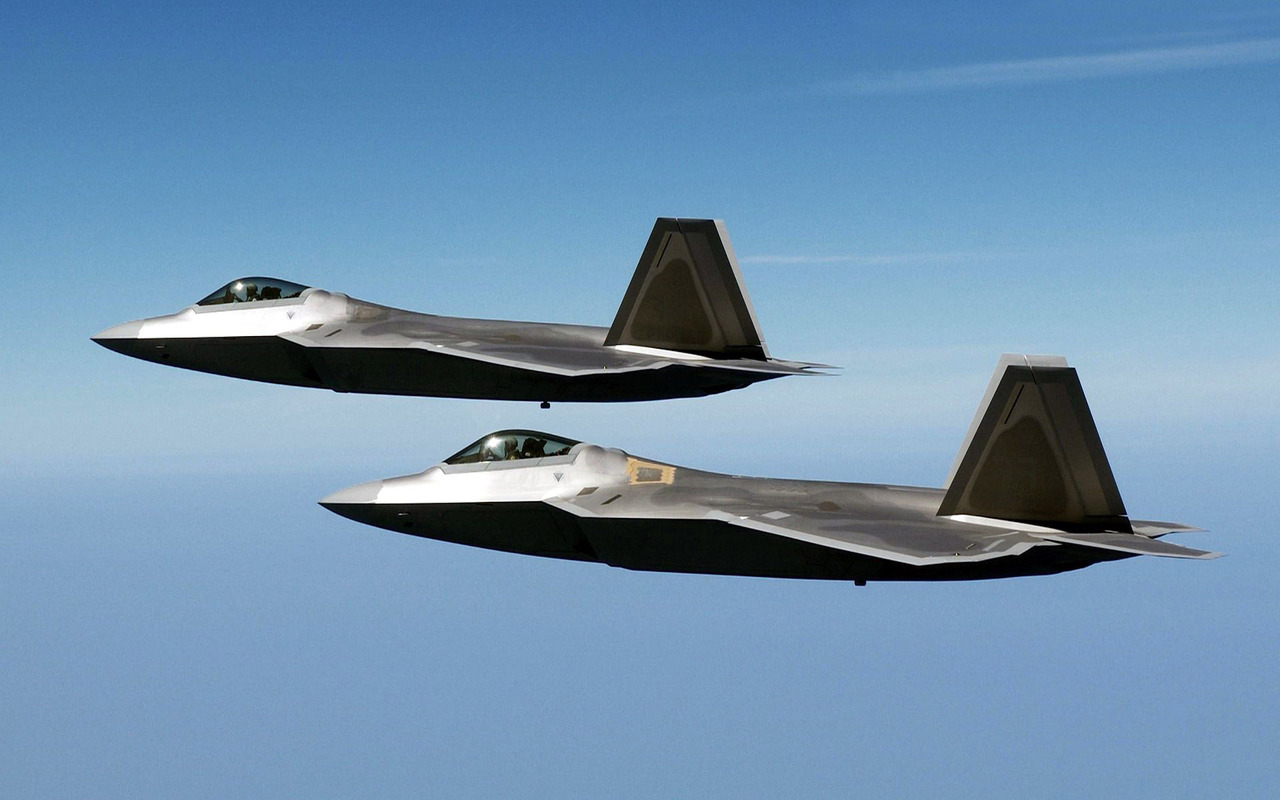 Lockheed Martin F 22 Raptor wallpaper 13542 1280x800