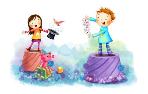 of Wallpaper drawing children girl boy animal fun tricks maps 500x319
