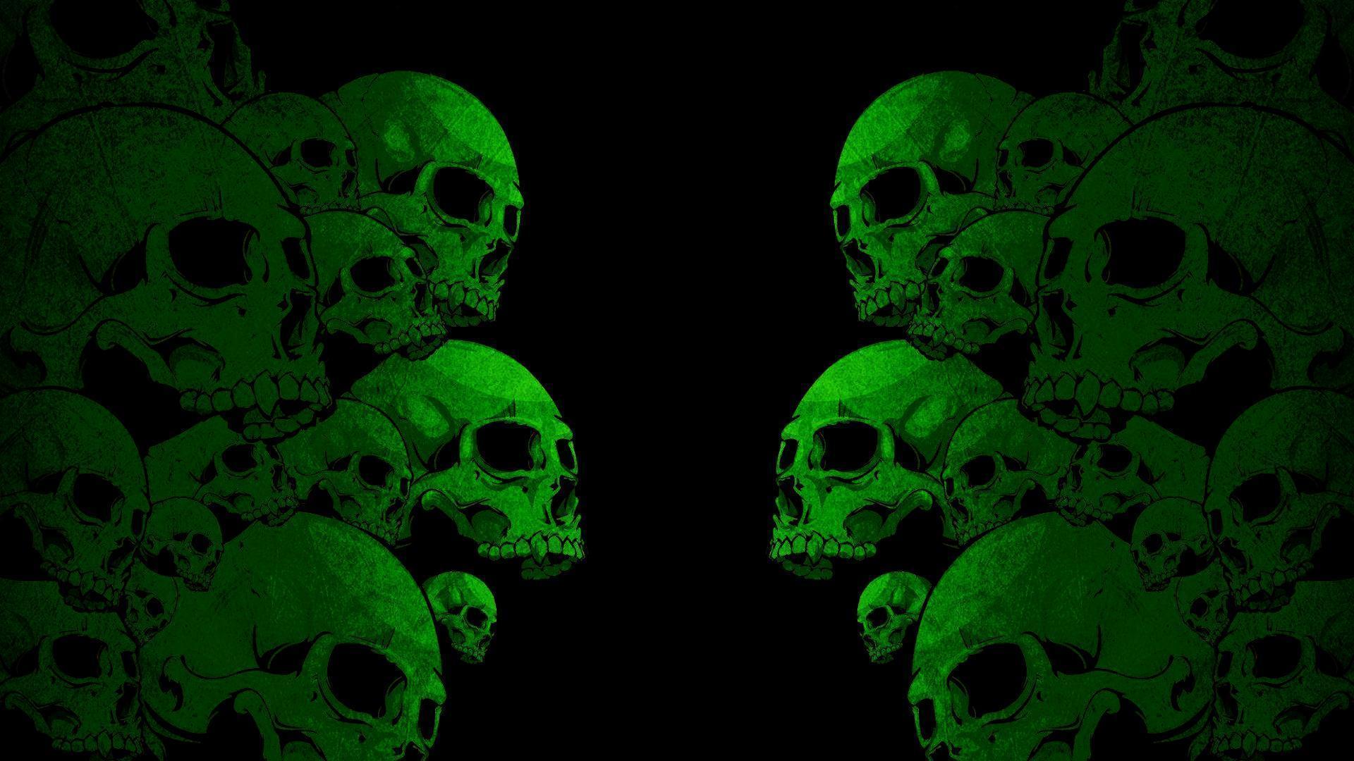 Green Skull Wallpapers 1920x1080