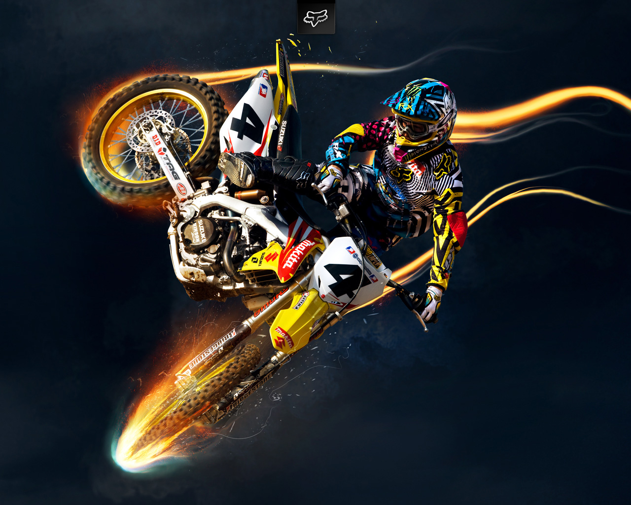 Thema Coole Motocross Wallpaper 1280x1024