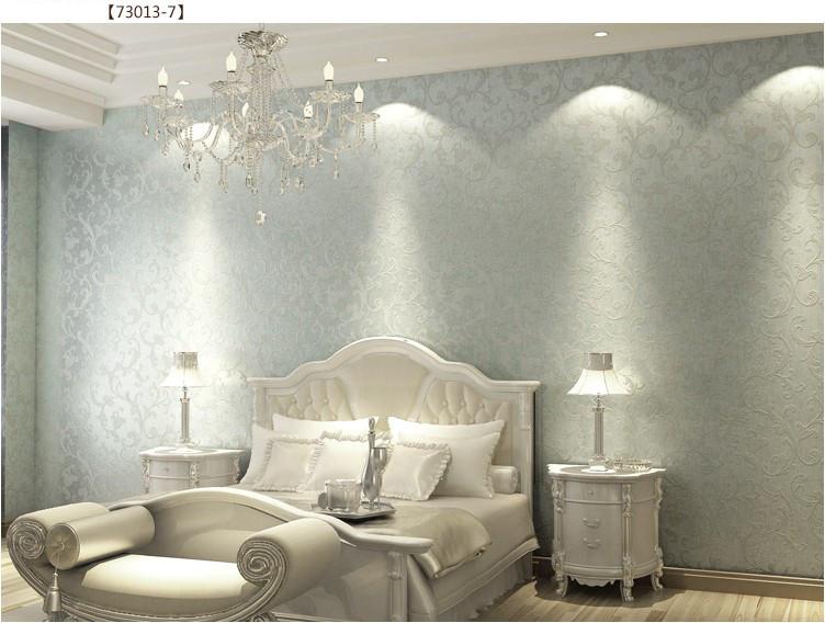 Download Non Woven Bedroom Wallpaper Textured Glitter Metallic