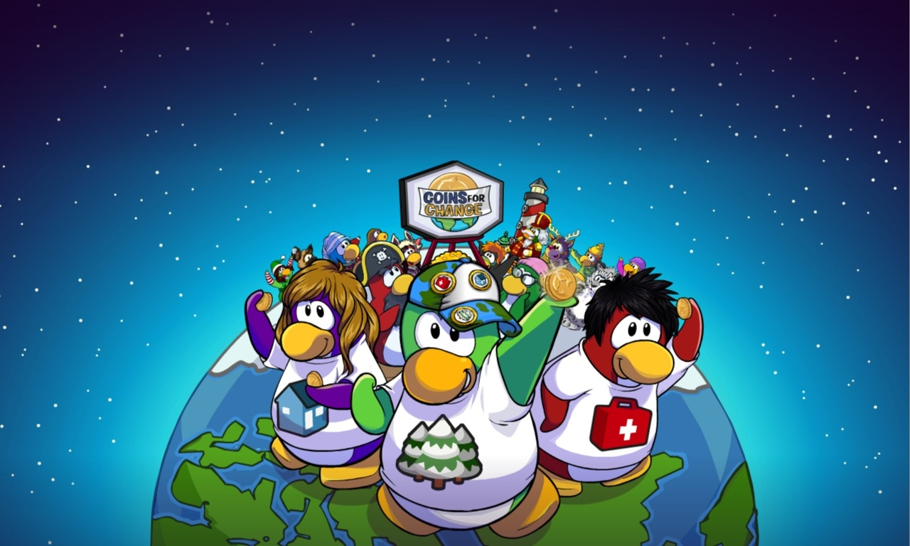 Echo006 In Club Penguin Club Penguin Coins For Change 2011 Wallpaper 1280x768
