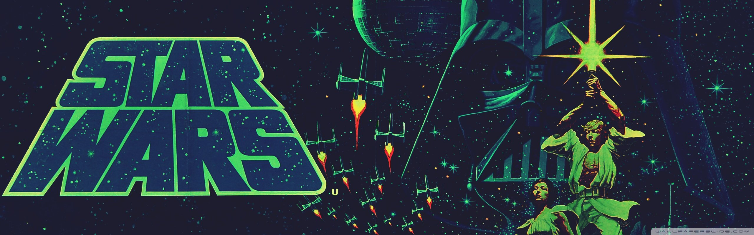 47 Dual Screen Wallpaper Star Wars On Wallpapersafari