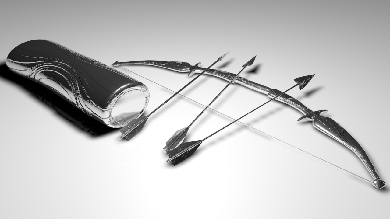 3D Bow And Arrow Design by HaydnMB 1280x720