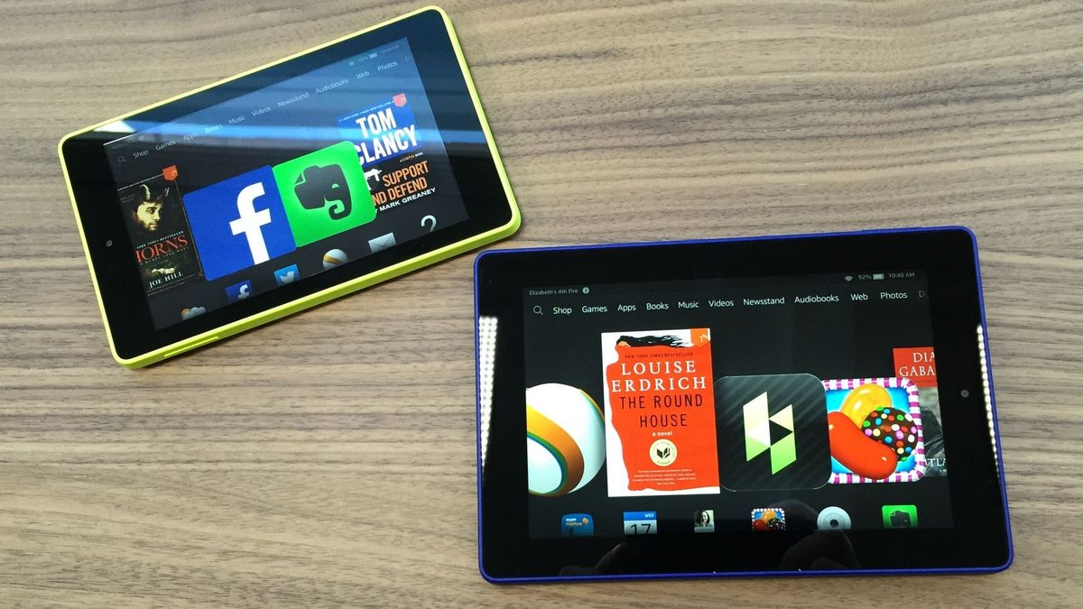 Amazon Kindle Fire HD 6 left and HD 7 right The 6 will cost 99 1200x675