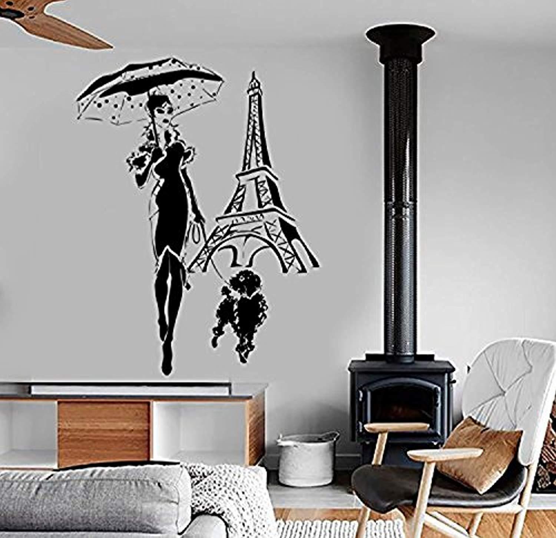Amazoncom Wall Vinyl Decal Travel Paris Eiffel Tower Fashion 1500x1449