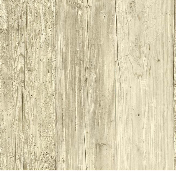Distressed White Wood Plank Wallpaper by WallpaperYourWorld 570x552