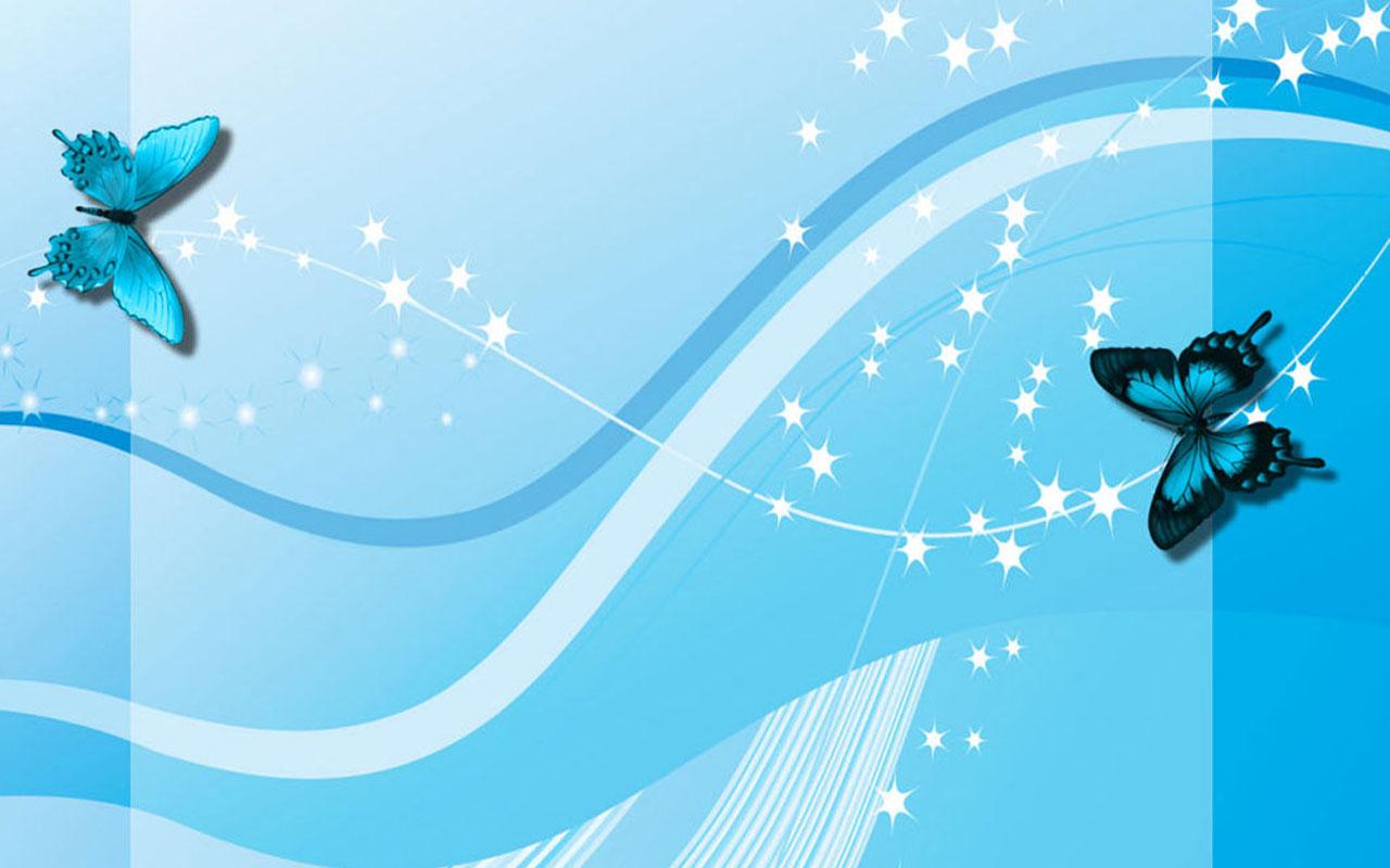 Blue Butterfly Art Wallpapers Blue ButterflyArt Desktop Wallpapers 1280x800