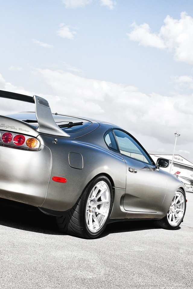 Toyota Supra Wallpaper Grey Toyota Supra For Iphone 4 640x960