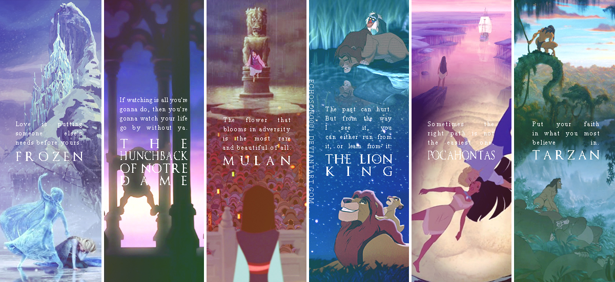 Disney Quotes Wallpaper II by echosong001 1200x550