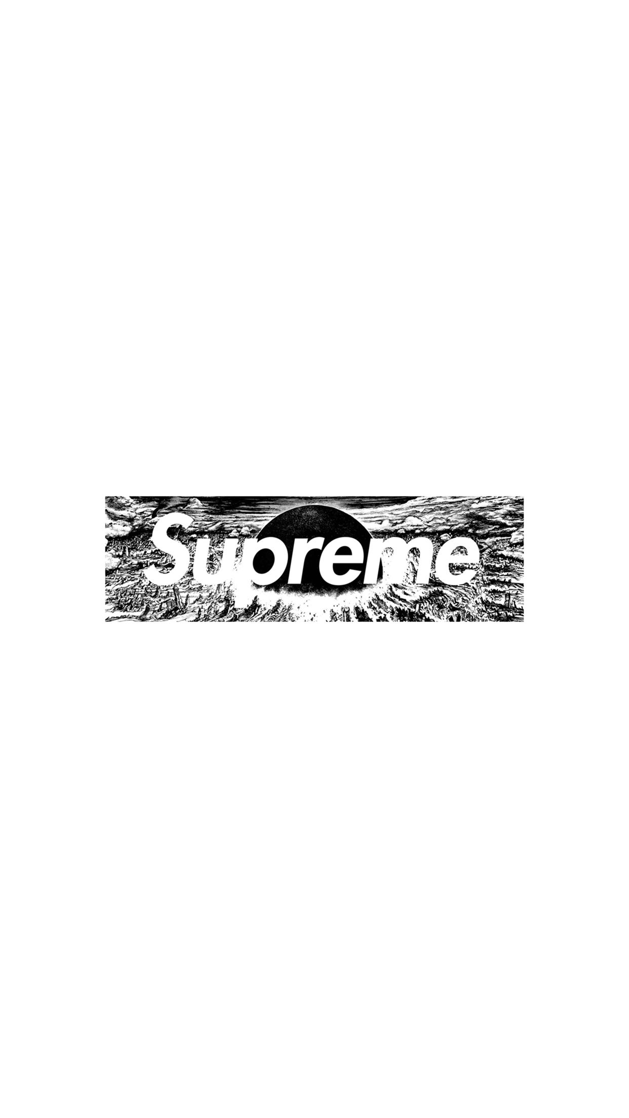 53 White Supreme Iphone Wallpaper On Wallpapersafari