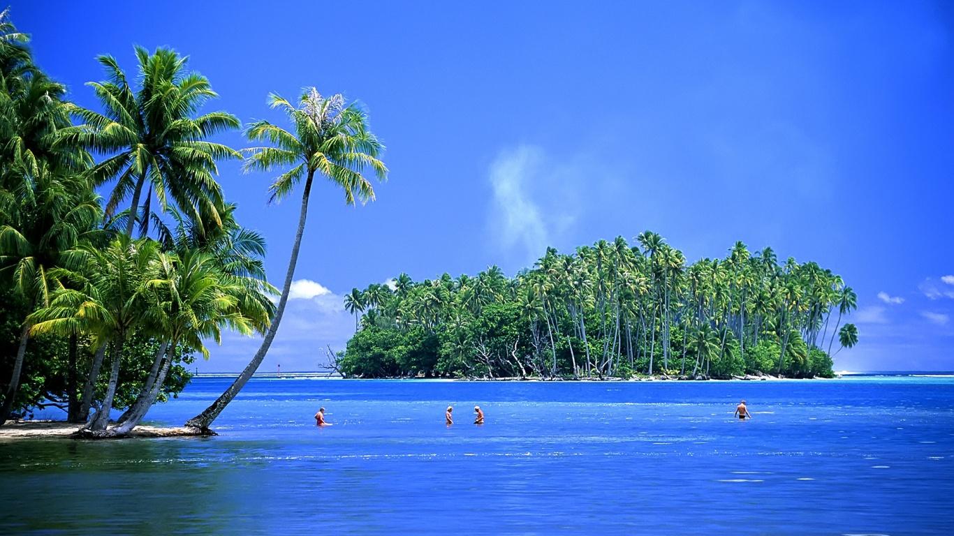 Beautiful Tropical Islands Desktop Wallpaper 1366x768