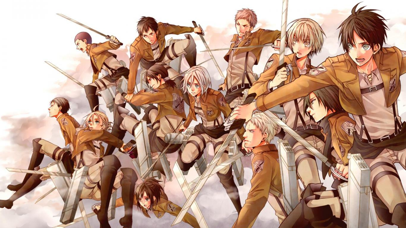 Attack on titan   104463   High Quality and Resolution Wallpapers 1366x768
