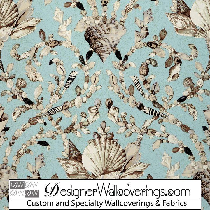 Shell Trellis Lattice Wallpaper [PAL 42075] Designer Wallcoverings 720x720