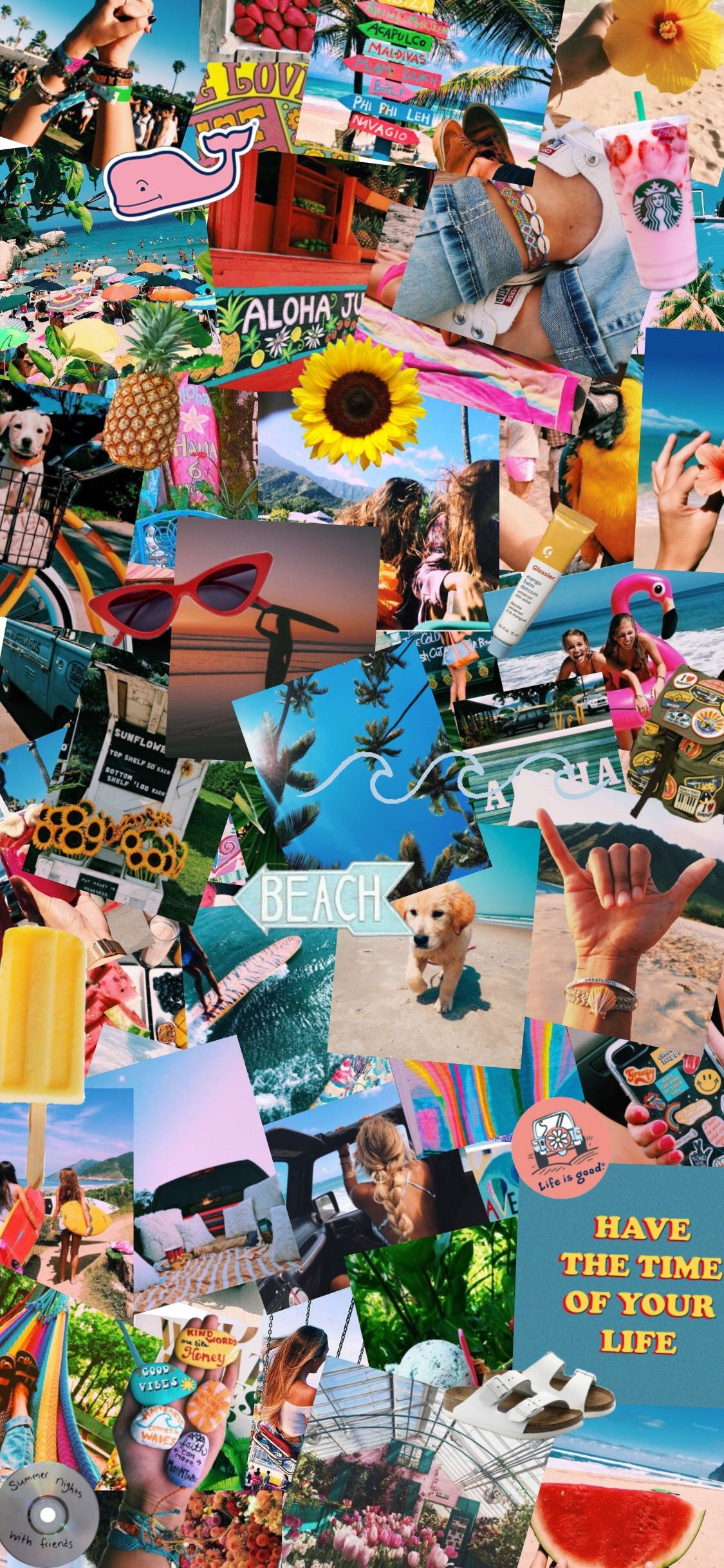 Free Download Summer Aesthetic Bright Colors Indie Theme Summer Wallpaper In 1125x2436 For Your Desktop Mobile Tablet Explore 52 Collage For Summer Wallpapers Collage For Summer Wallpapers Collage Backgrounds