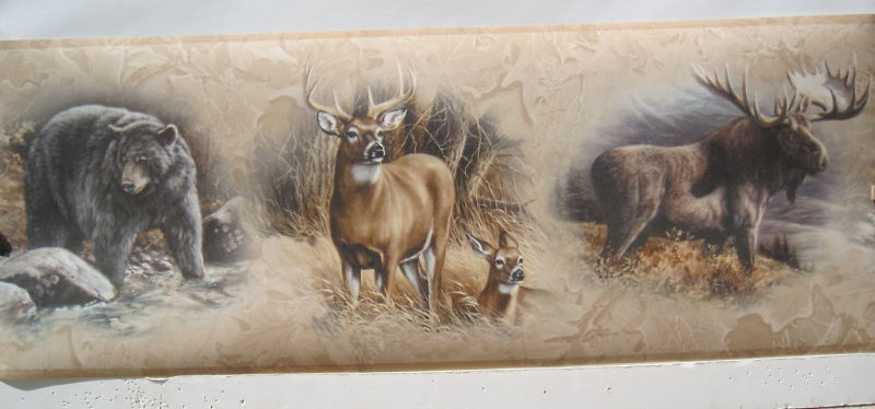 ebaycomMOOSE DEER DOE BEAR HUNTING Wall Border 9 eBay 800x374