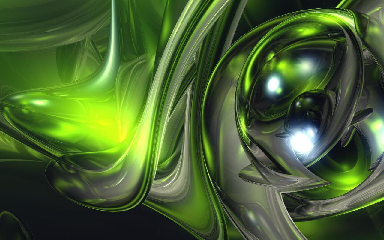 Dark Green Abstract Wallpaper