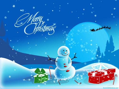 Christmas Snowman Wallpaper   Christmas Screensavers Flickr 500x375