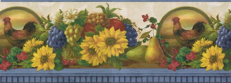 47 Sunflower Kitchen Wallpaper Borders On Wallpapersafari