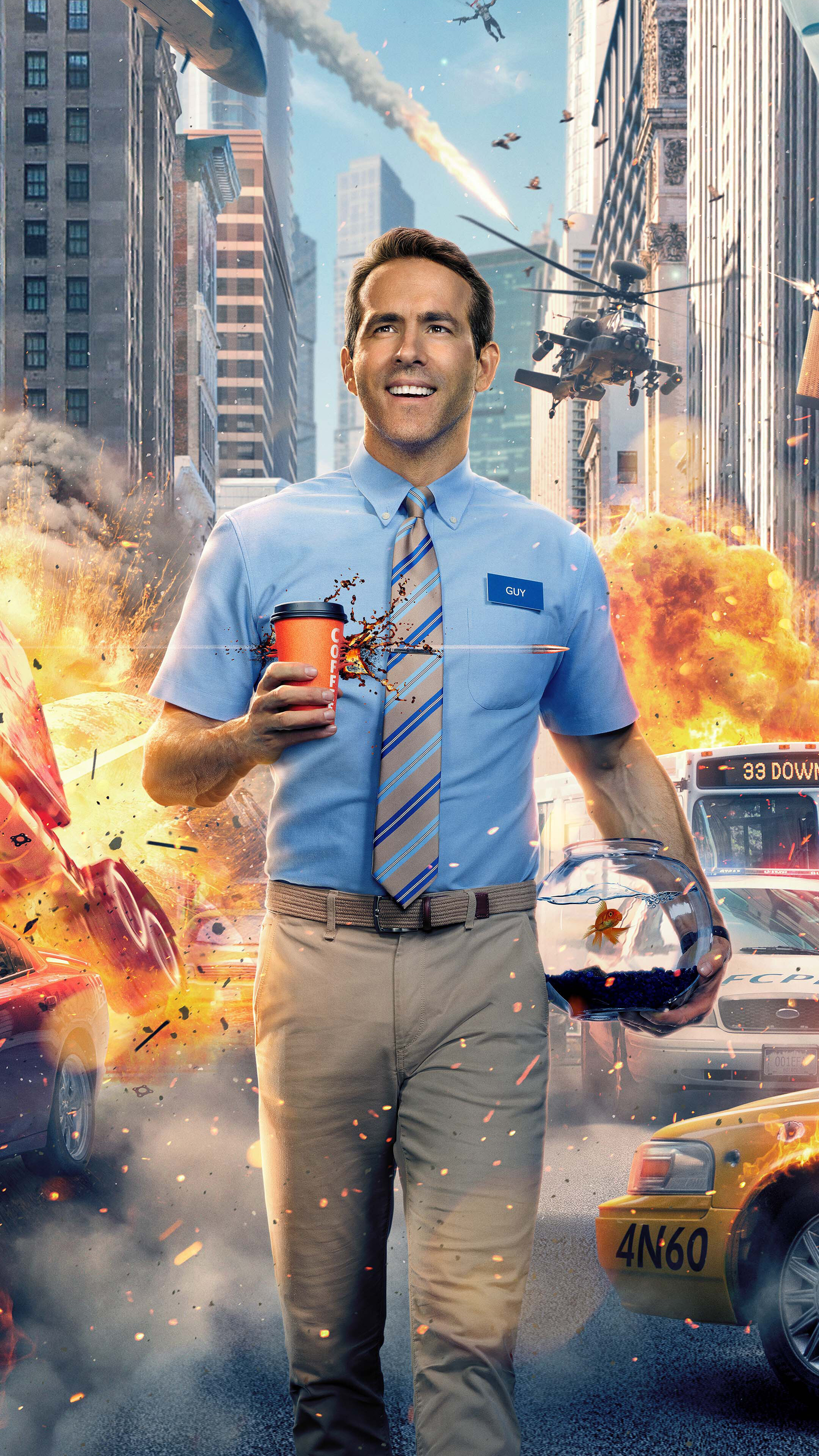 Guy Movie Poster Ryan Reynolds 4K Wallpaper 7623 2160x3840