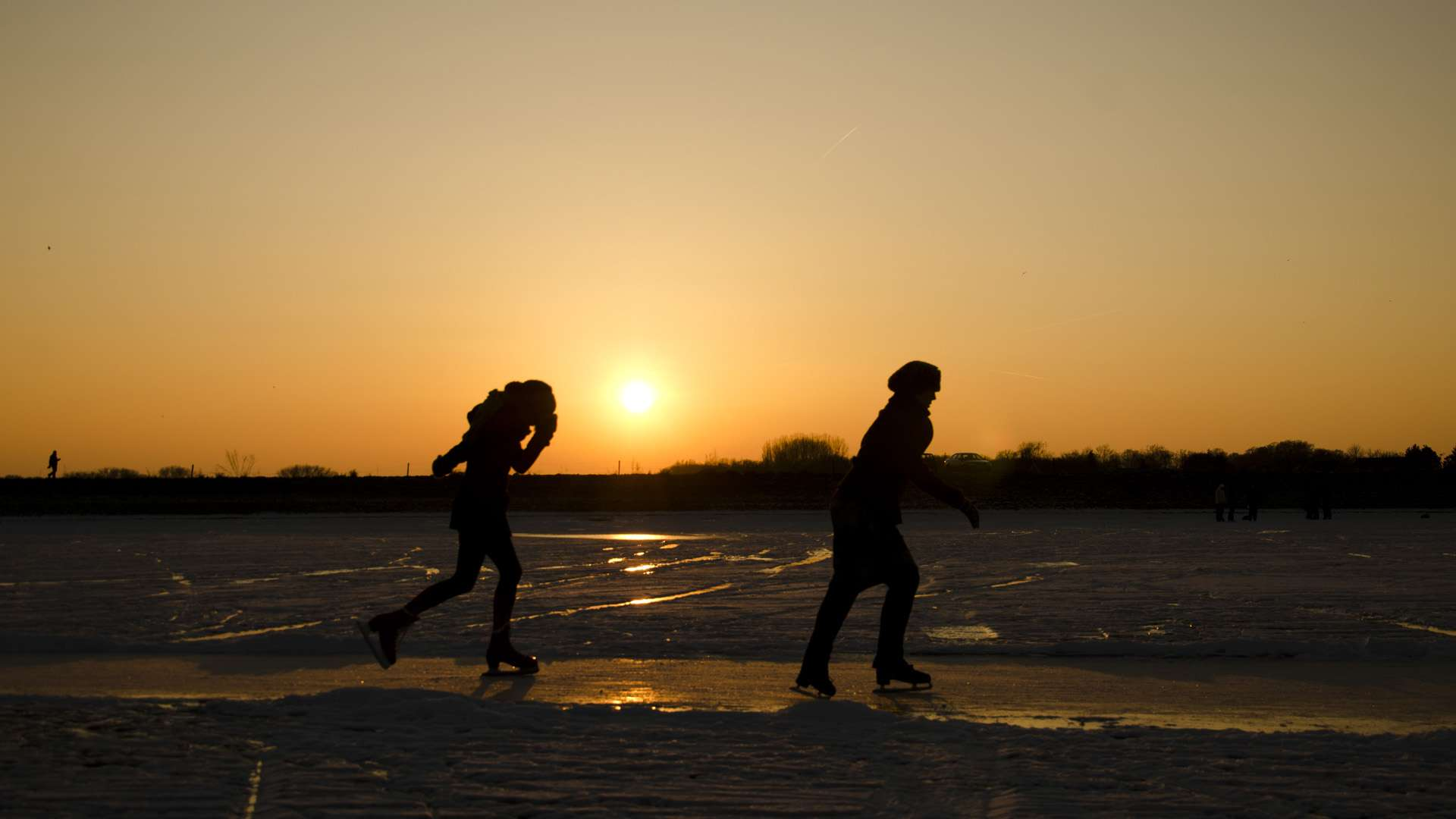 Sunset Ice Skating HD Wallpaper FullHDWpp   Full HD Wallpapers 1920x1080