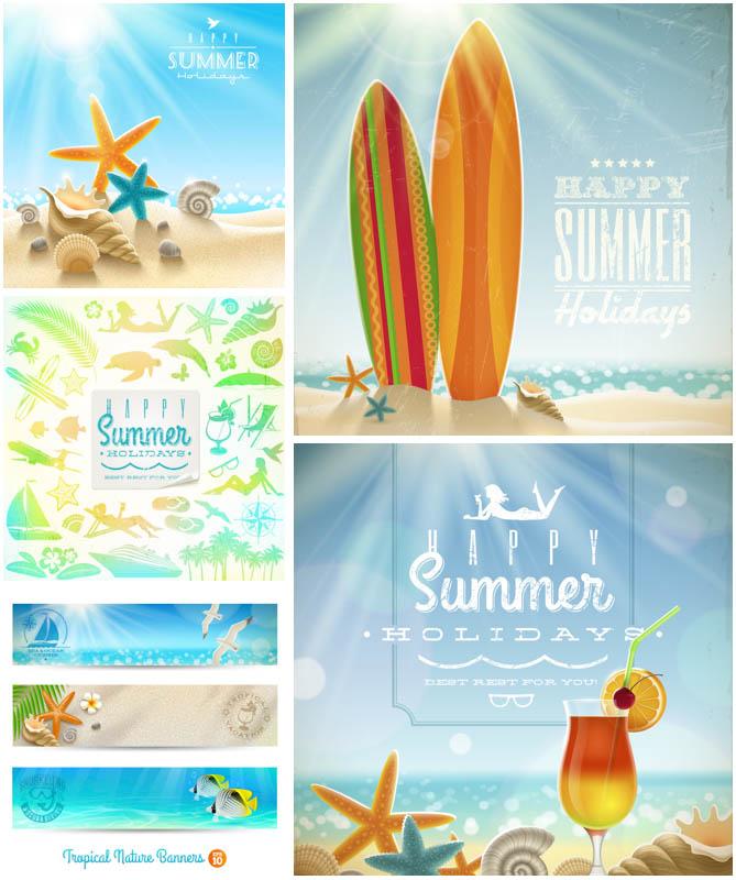 Summer backgrounds vector clip art Vector Graphics Blog 669x800
