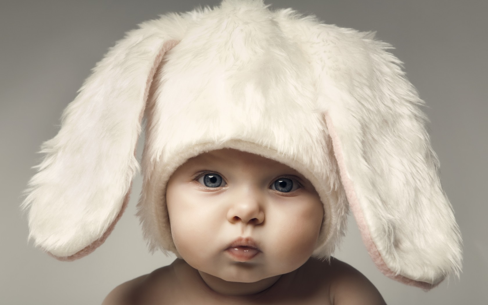 innocence baby kid photo baby hd wallpaper cute rabbit bunny 1680x1050