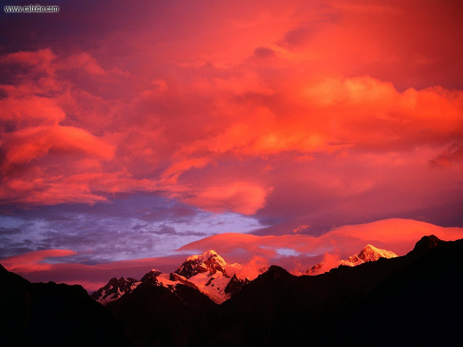 Nature Alpenglow Mount Tasman New Zealand picture nr 13915 1600x1200