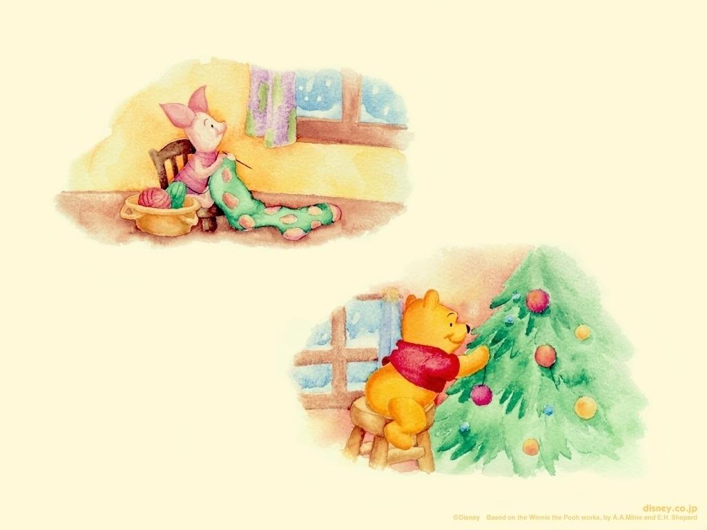 Pooh & Piglet Christmas - Winnie the Pooh Wallpaper (1993757) - Fanpop