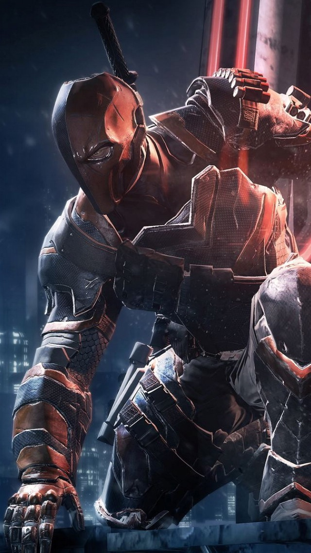 Arkham Origins Deathstroke iPhone 6 6 Plus and iPhone 54 Wallpapers 640x1136