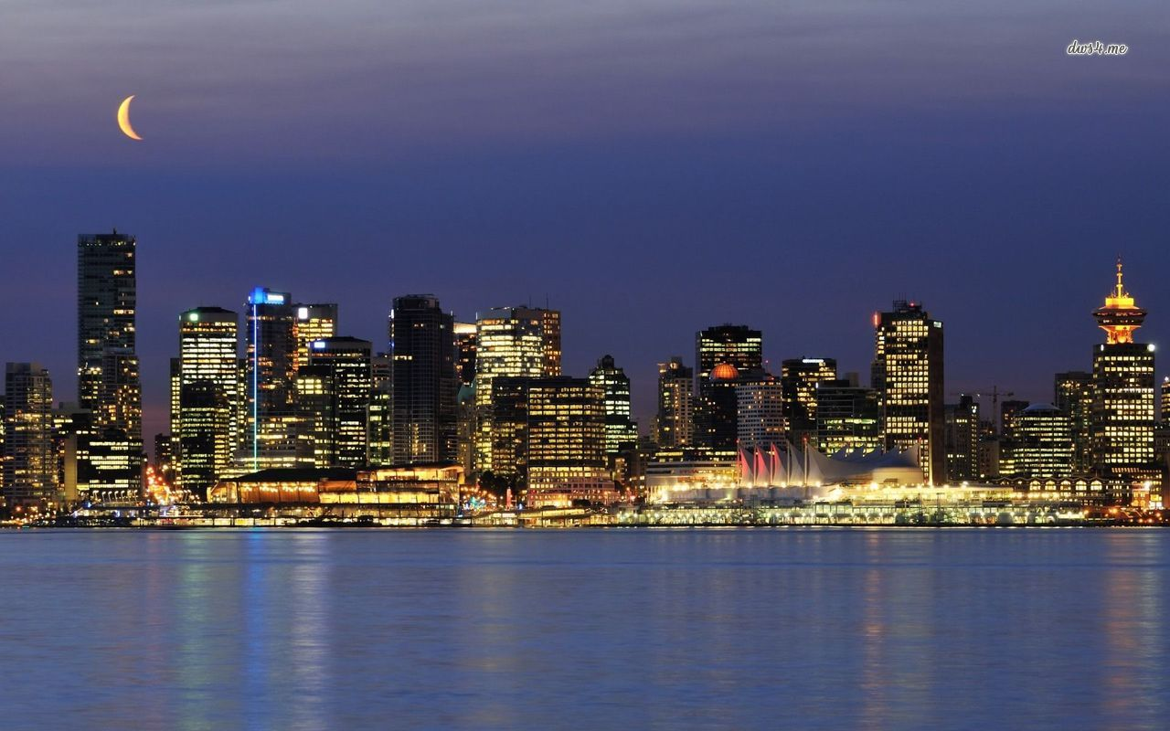Vancouver skyline wallpaper   World wallpapers   25855 1280x800