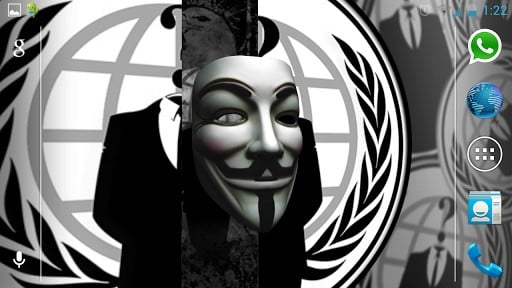 Anonymous Mask Wallpaper Iphone Anonymous vendetta mask 3d 512x288