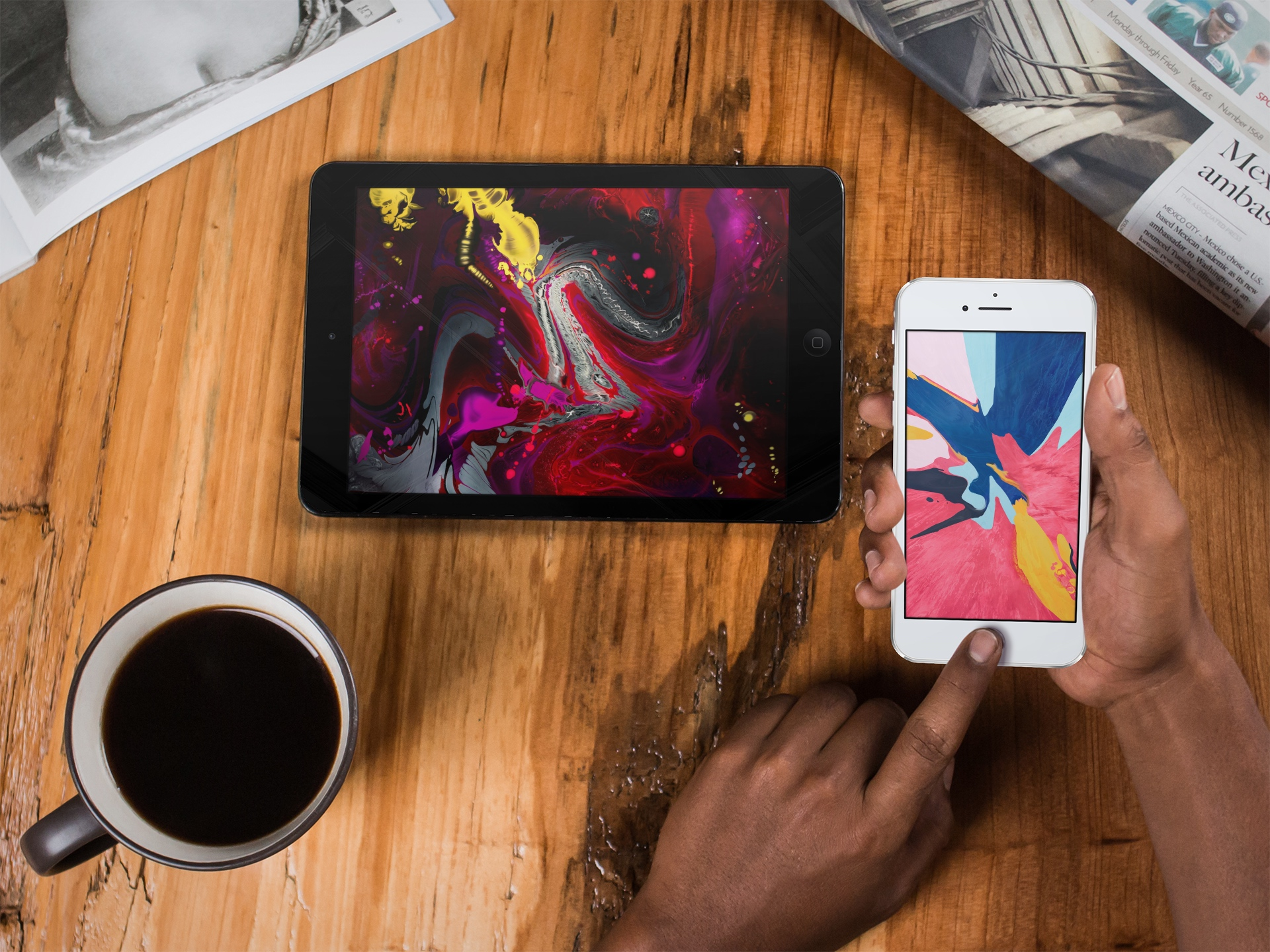 Download iPad Pro and MacBook Air wallpapers for iPhone and iPad 1920x1440