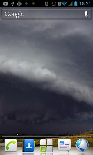 View bigger   Tornado HD Live Wallpaper for Android screenshot 307x512