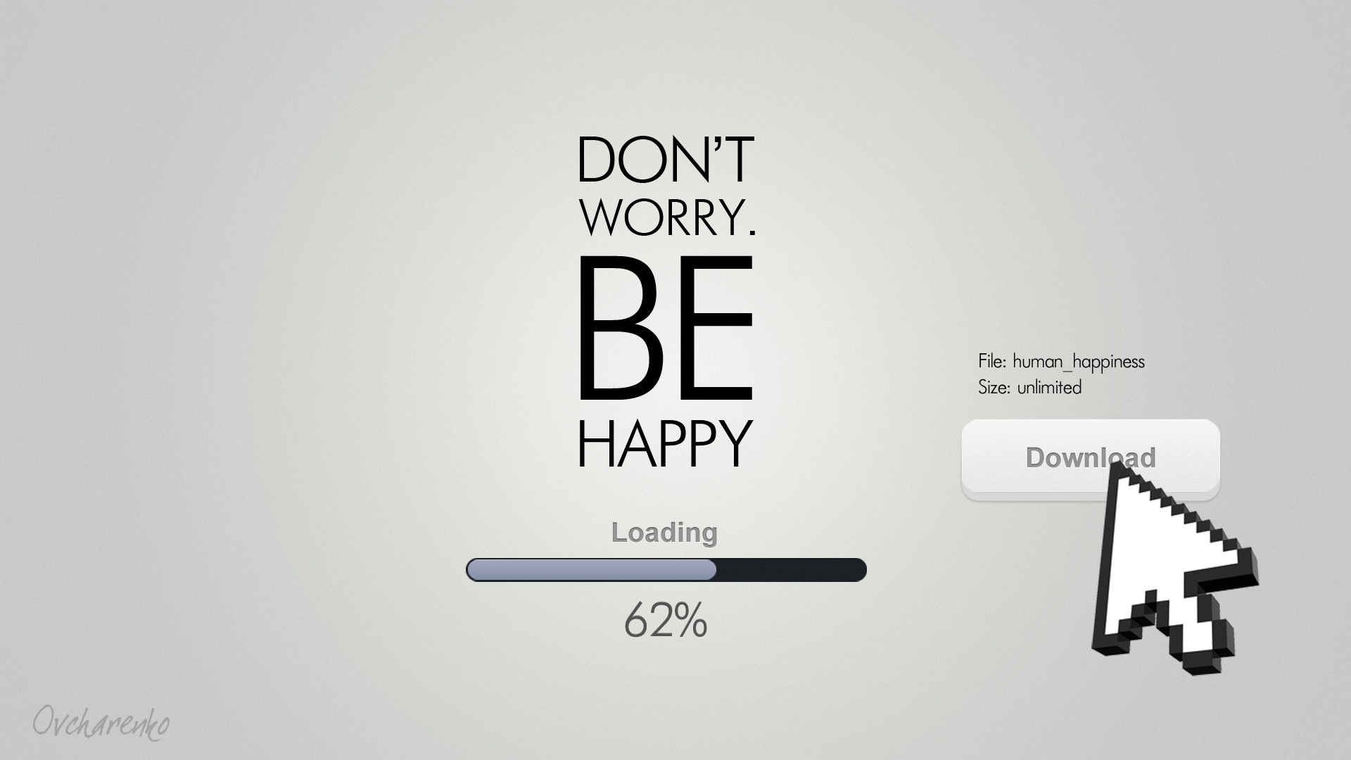 text typography loading creative happiness mice hd wallpapers 1920x1080