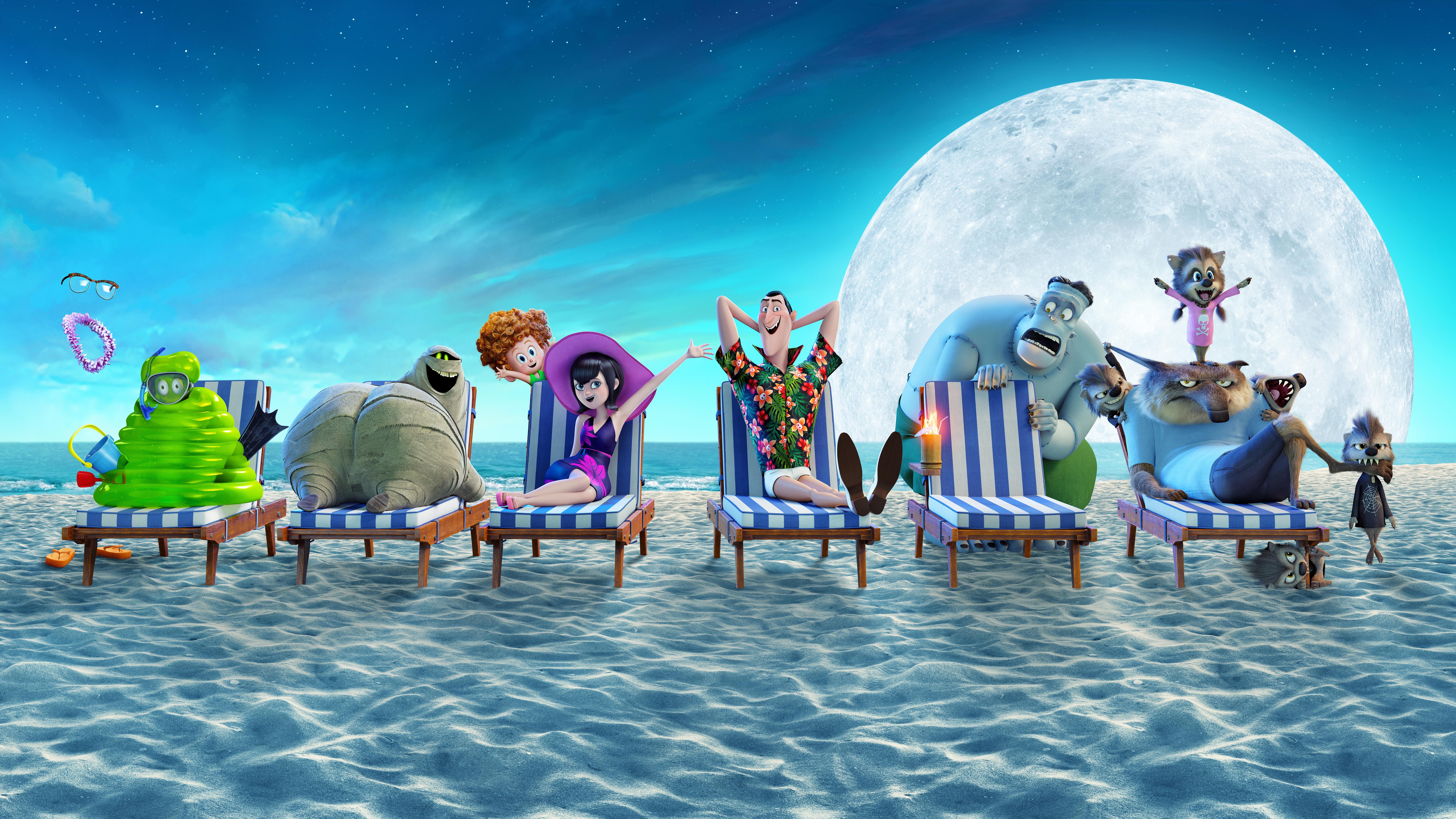 Hotel Transylvania 3 Summer Vacation 8k Ultra HD Wallpaper 7680x4320