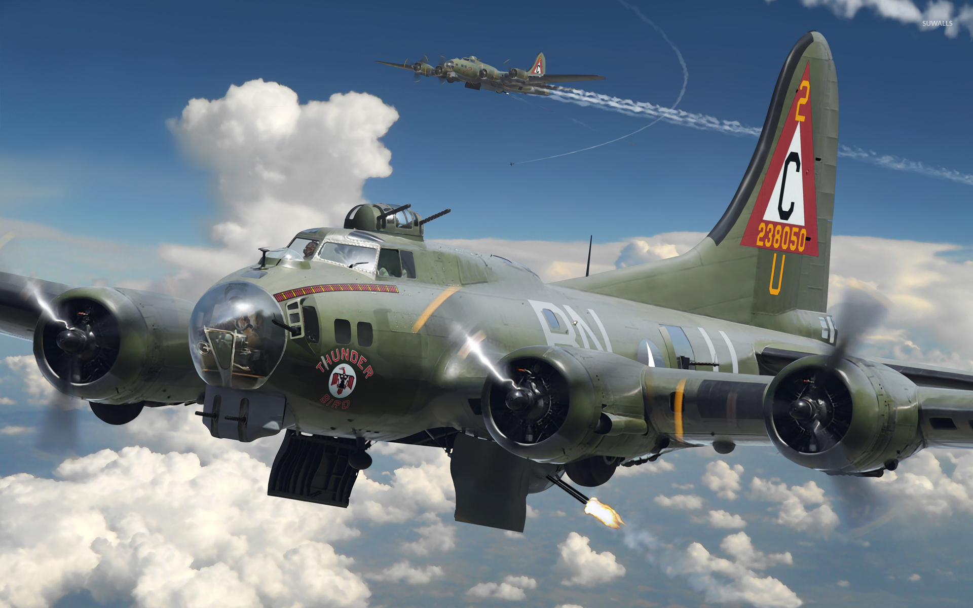 Boeing B 17 Flying Fortress wallpaper   Aircraft wallpapers   46434 1920x1200