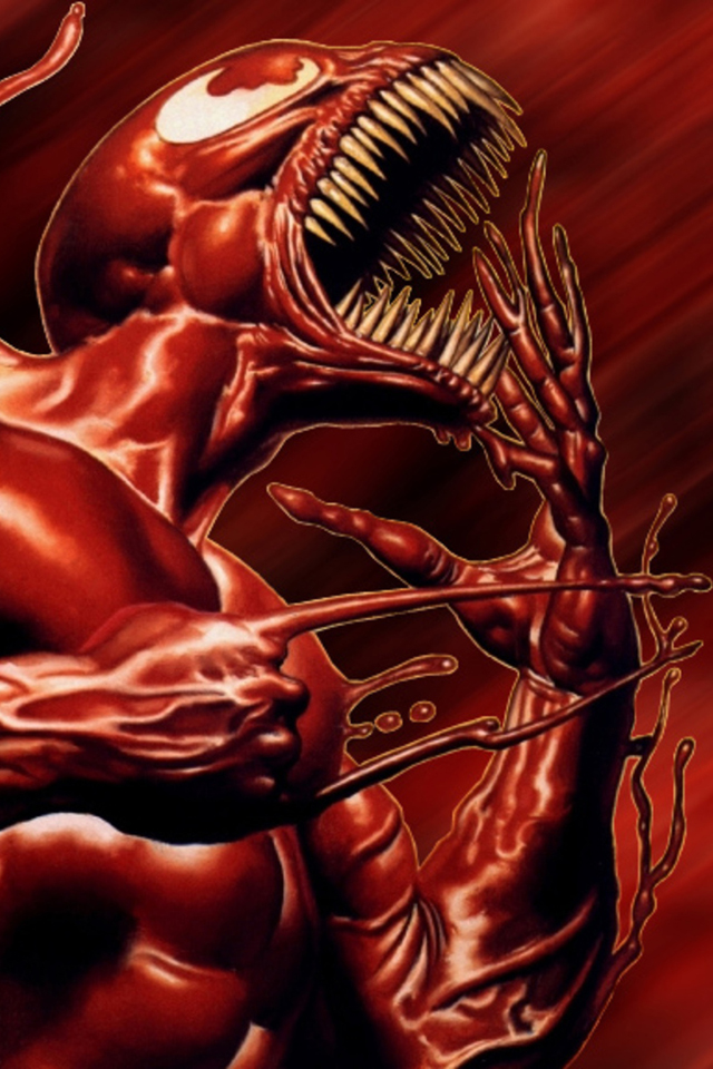Venom I4 drawns cartoons wallpaper for iPhone download 640x960
