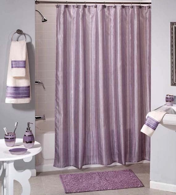 Matching Wallpaper And Shower Curtains