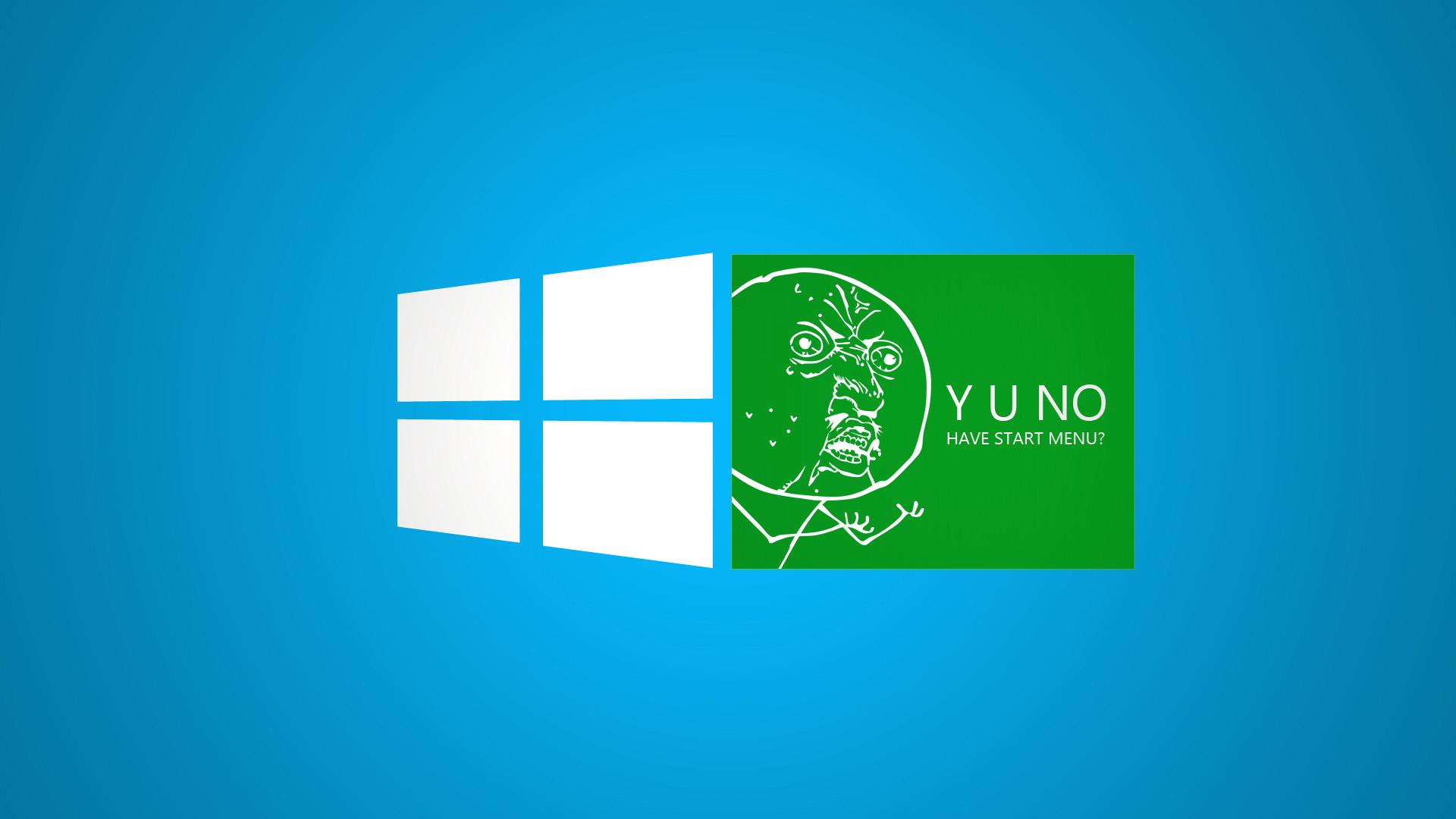 Funny Green Windows 8 Meme Desktop Wallpaper 1920x1080