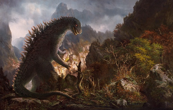 Wallpaper godzilla godzilla monster forest nature wallpapers 596x380