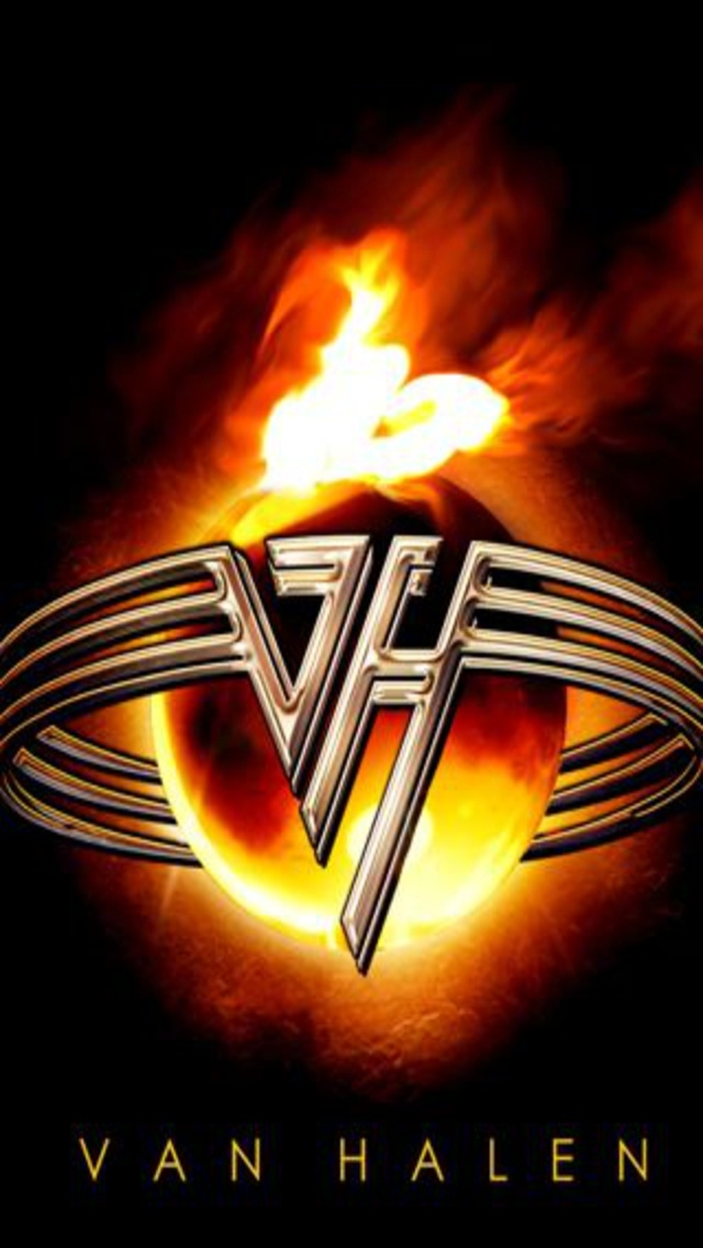 Classic Van Halen Logo Wallpaper Clipart Vector Design