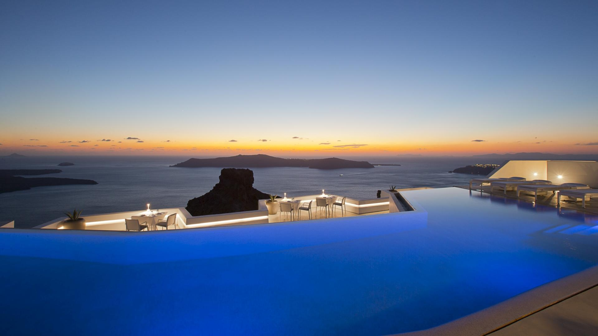 Pool Grace Hotel Santorini 429036   HD Wallpaper Download 1920x1080